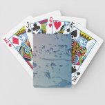 Rain drops playing cards