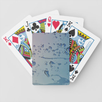 Rain drops bicycle playing cards