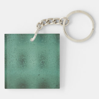 Rain drops square acrylic keychain