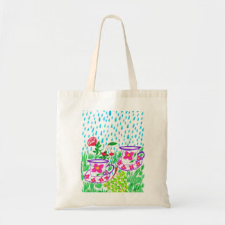 rain-drops tote bag