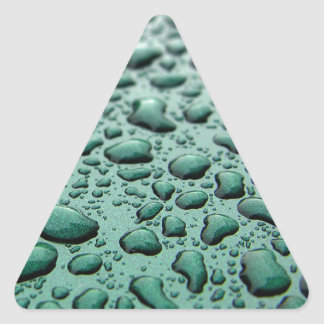 Rain Drops Triangle Sticker