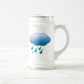 Rain Drops with Cloud Beer Stein