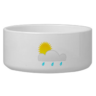Rain Drops with Cloud Dog Bowl
