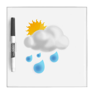Rain Drops with Cloud Dry Erase White Board