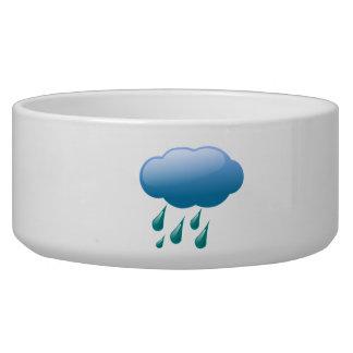 Rain Drops with Cloud Pet Bowls