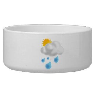 Rain Drops with Cloud Pet Food Bowls