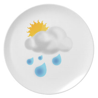 Rain Drops with Cloud Party Plates