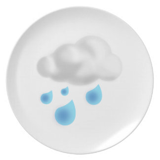 Rain Drops with Cloud Plate