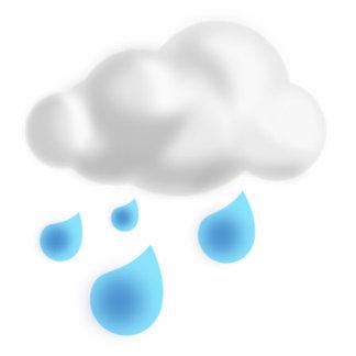 Rain Drops with Cloud Statuette