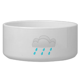 Rain Drops with Clouds Pet Food Bowls