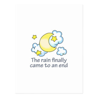 RAIN ENDED POSTCARD