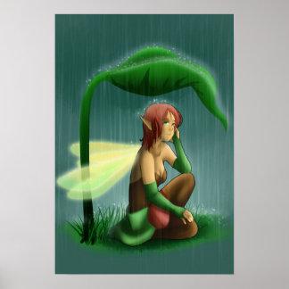 Rain fairy print