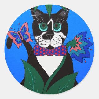 Rain Forest Cat Sticker