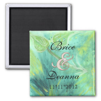 Rain Forest Haze Champagne Save The Date Magnet
