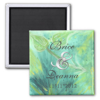 Rain Forest Haze Silver Save The Date Magnet