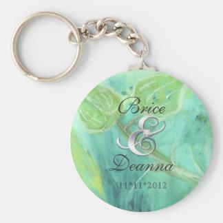 Rain Forest Haze Silver Wedding Favor Keychain