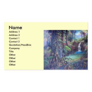 Rain Forest Landscape River Waterfalls Art Business Cards
