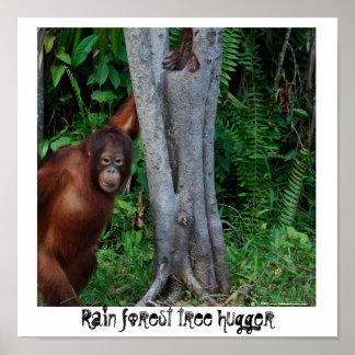 Rain Forest  Nature's Tree Hugger Print