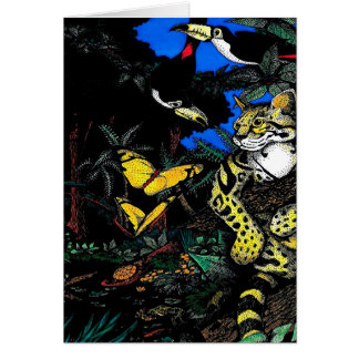 Rain Forest Ocelot Card