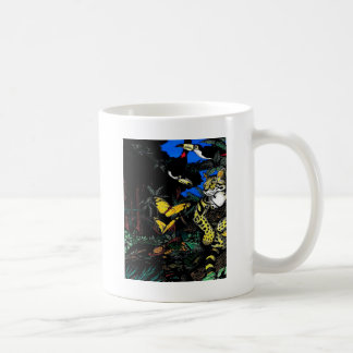 Rain Forest Ocelot Classic White Coffee Mug