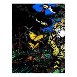 Rain Forest Ocelot Postcard