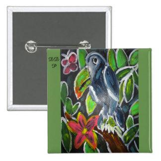 Rain  Forest  Toucan art Pinback Button