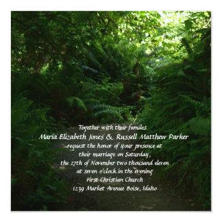 Rain Forest Wedding 5.25x5.25 Square Paper Invitation Card