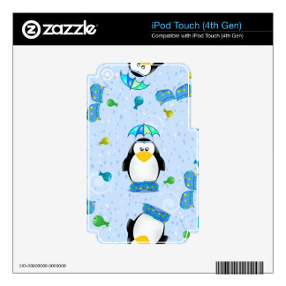 Rain Galoshes Penguin iPod Touch 4G Decal
