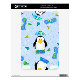 Rain Galoshes Penguin Decals For Kindle 2
