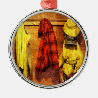 Rain Gear and Red Plaid Jacket Christmas Ornament