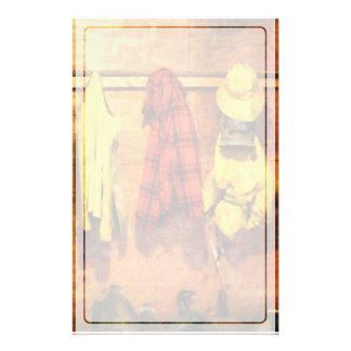 Rain Gear and Red Plaid Jacket Stationery