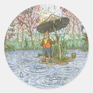 Rain Gnome Sticker