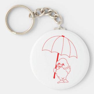 Rain Go Away Basic Round Button Keychain