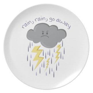Rain Go Away Plates