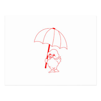 Rain Go Away Postcard