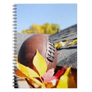 Rain Gutter Full Of Autumn Leaves Notebook