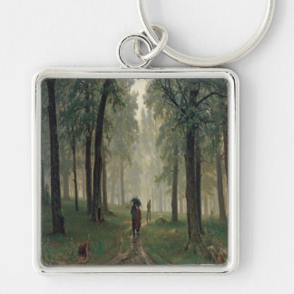 'Rain in an Oak Forest' Keychain