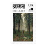 'Rain in an Oak Forest' Postage Stamps