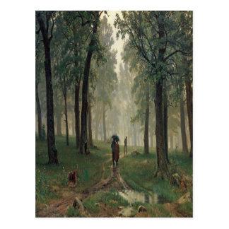 'Rain in an Oak Forest' Postcard