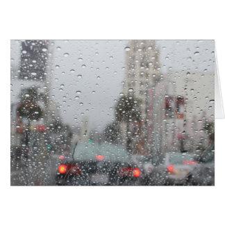 rain in LA Stationery Note Card