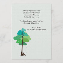Rain in my Heart Bereavement Thank You Card