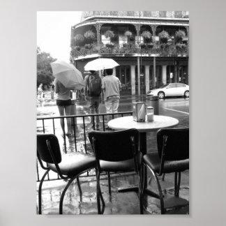 Rain in New Orleans Cafe' du Monde French Quarter Print