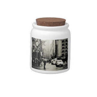 Rain in New York City - Vintage Style Candy Dishes