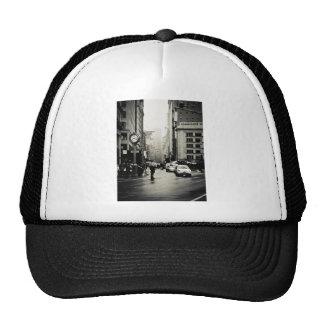 Rain in New York City - Vintage Style Mesh Hats