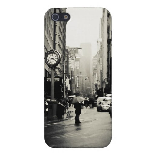 Rain in New York City - Vintage Style iPhone 5 Case