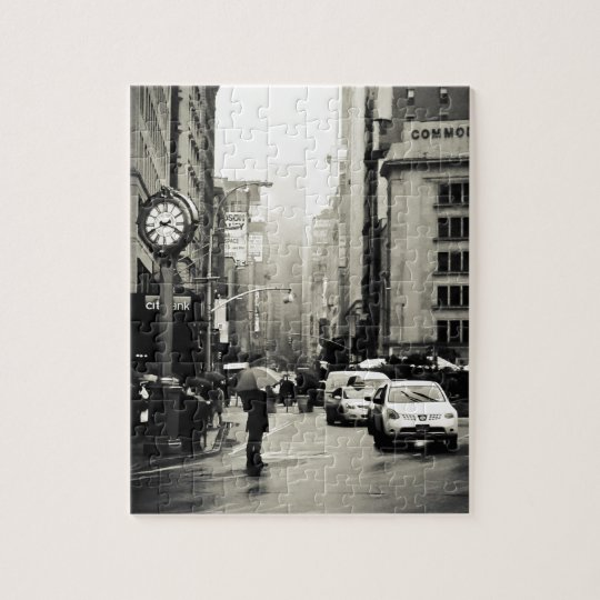 Rain in New York City - Vintage Style Jigsaw Puzzle ...