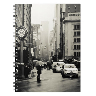 Rain in New York City - Vintage Style Notebook