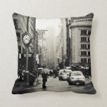Rain in New York City - Vintage Style Pillow