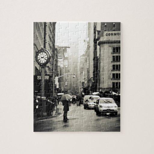 Rain In New York City Vintage Style Puzzle Zazzle