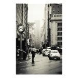 Rain in New York City - Vintage Style Custom Stationery